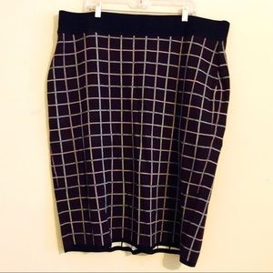Sweater skirt women's 3x plaid new